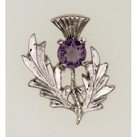Scottish Thistle Pewter Brooch