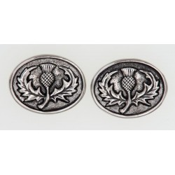 Scottish Thistle Round Cufflinks