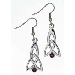 Celtic Fuchsia Pewter Earrings