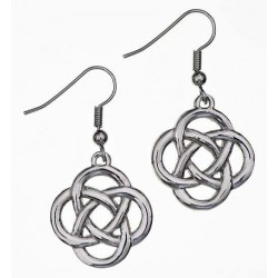 Jura Knot Pewter Earrings