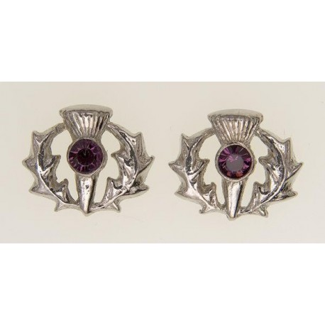 Scottish Thistle Pewter Earrings