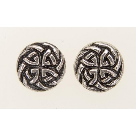Eternal Interlace Pewter Earrings