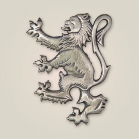 Lion Rampant Brooch Kilt Pin Antique