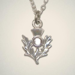 April (Crystal) Thistle Pendant