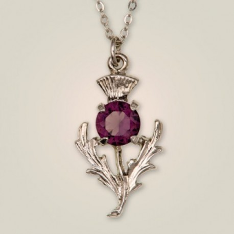 Scottish Thistle Pewter Pendant