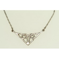 Celtic Heart Pewter Necklet