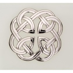 Eternal Interlace Plaid Pewter Brooch