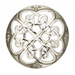 Cathedral Plaid Pewter Brooch