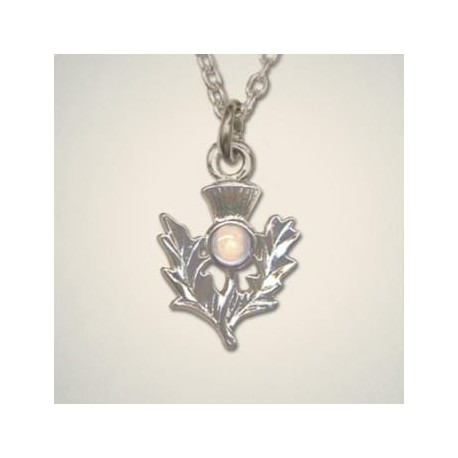 October (Opal) Thistle Pendant