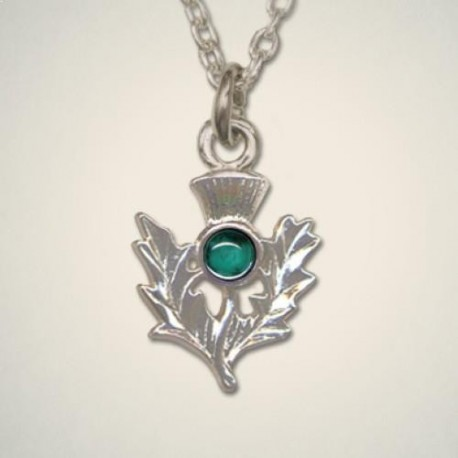 May (Emerald) Thistle Pendant
