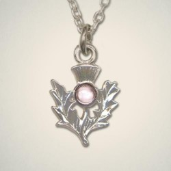 June (Light Amethyst) Thistle Pendant
