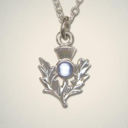 December (Turquoise) Thistle Pendant