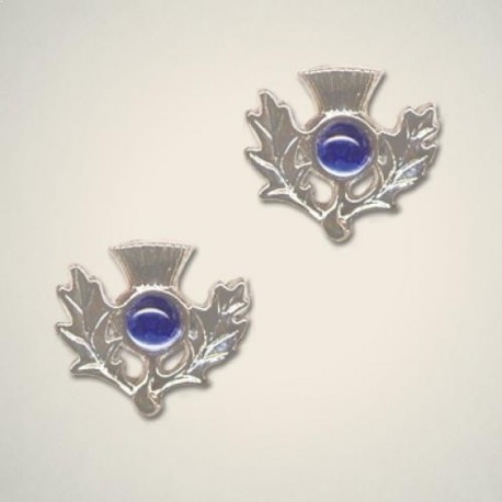 September (Sapphire) Thistle Earrings