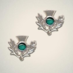 May (Emerald) Thistle Earrings