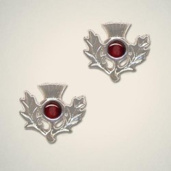 January (Garnet) Thistle Earrings