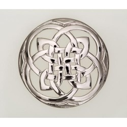 Celtic Plaid Pewter Brooch
