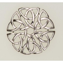 Eternal Interlace Pewter Brooch