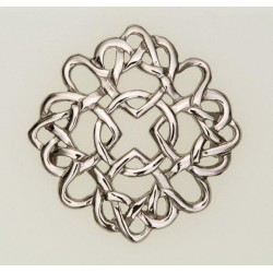Four Marys Pewter Brooch