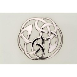 Lindisfarne Plaid Pewter Brooch
