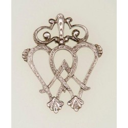 Luckenbooth Pewter Brooch